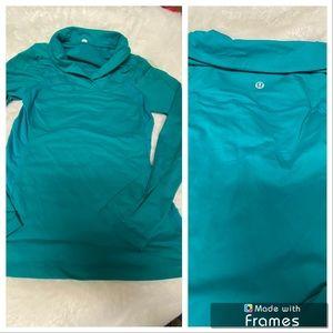Lululemon Athletica long sleeve turquoise